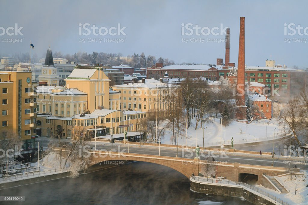 Tampere at Winter stock photo