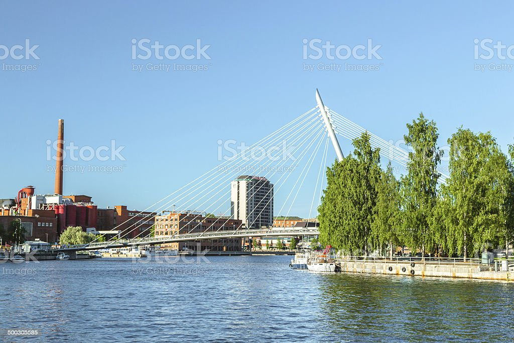 Tampere Downtown stock photo