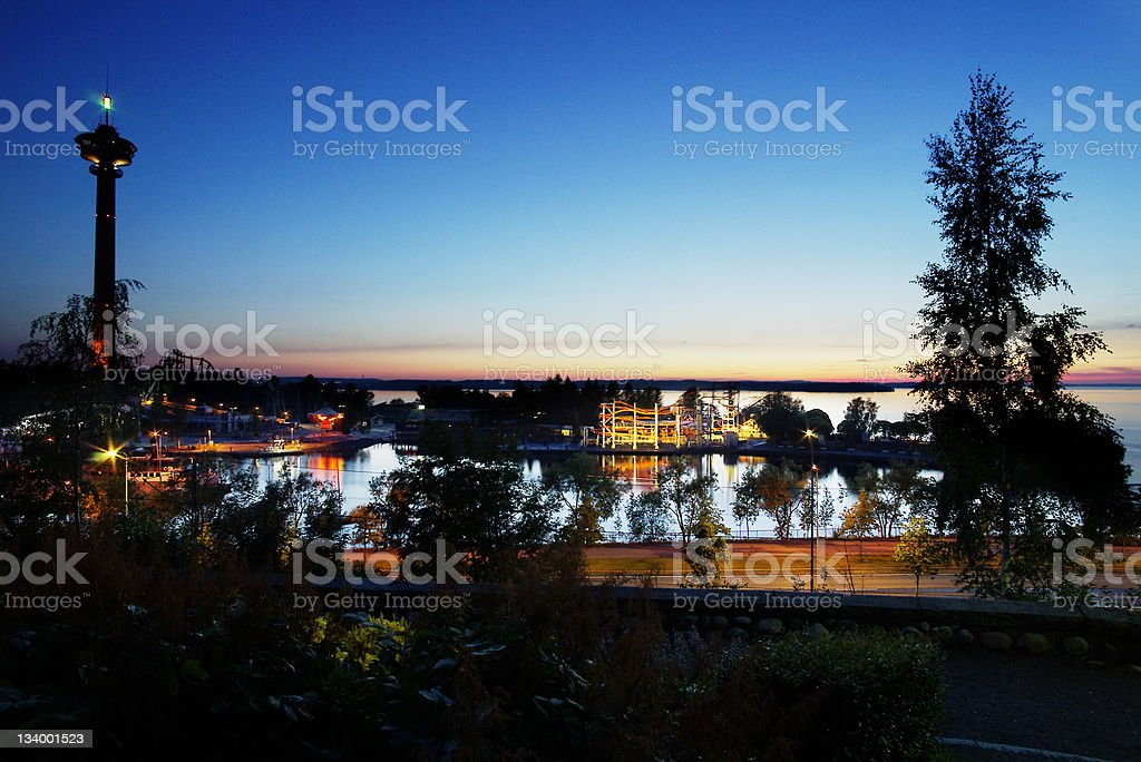 Tampere Finland Night stock photo