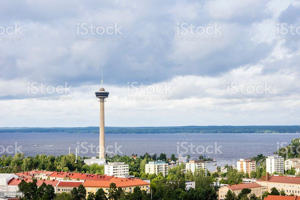 Tampere panorama, Hame Region, Finland stock photo