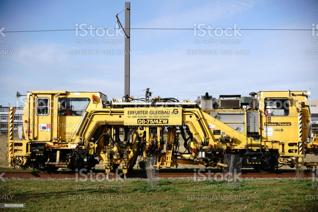 Tamping machine 08-75/4ZW stock photo