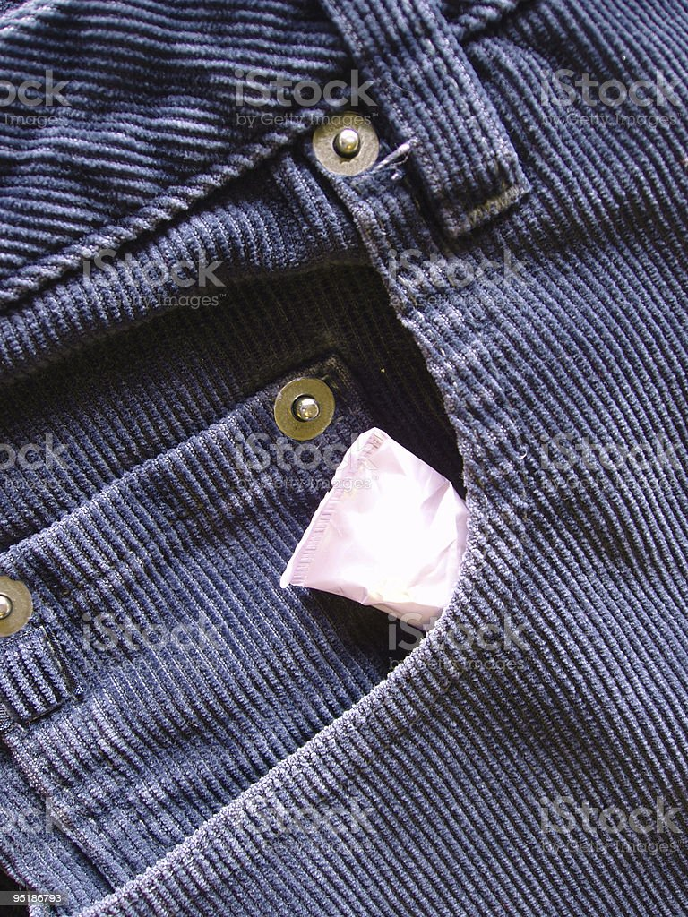 tampon tucked in jeans royalty-free stock photo
