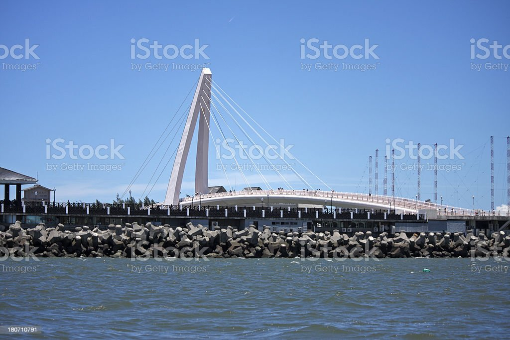 Tamsui Lover's Bridge royalty-free stock photo