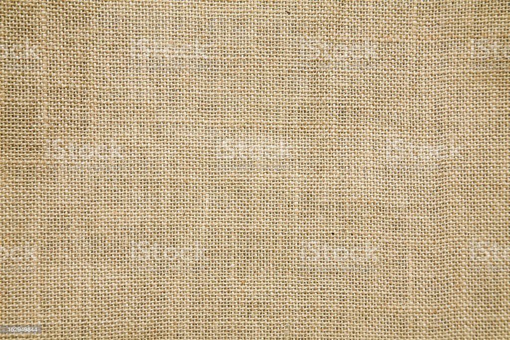 A tan burlap textile background can you be used for a sack royalty-free stock photo