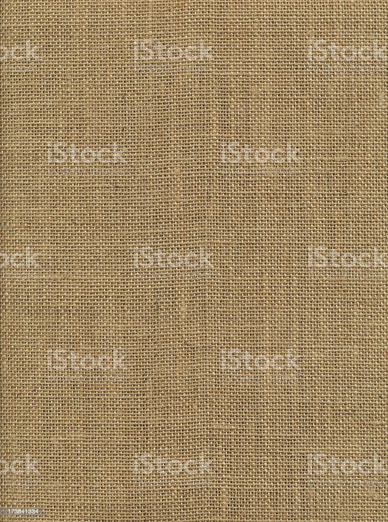 Tan, burlap, textured background royalty-free stock photo