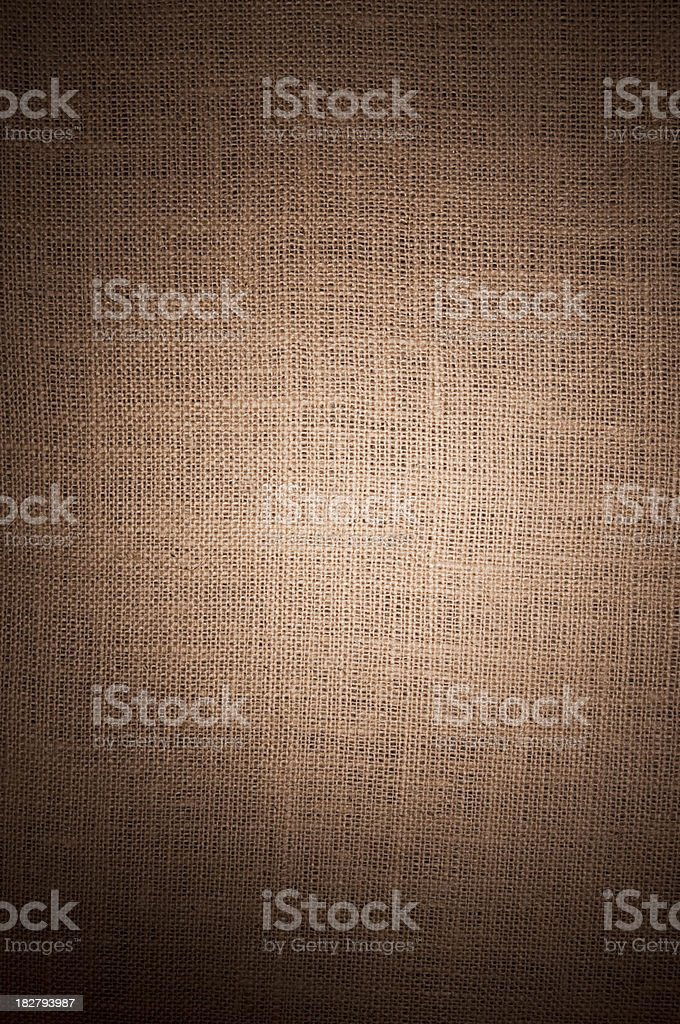 Tan Burlap with Vignette Vertical royalty-free stock photo