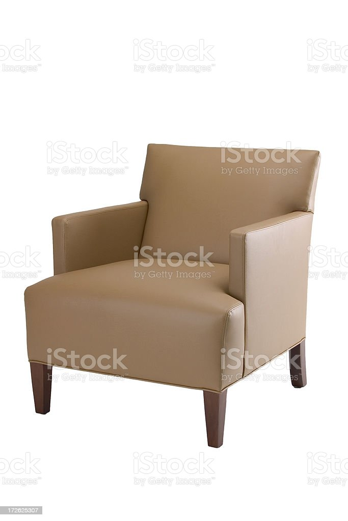 Tan Chair #2 - modern, straight back royalty-free stock photo