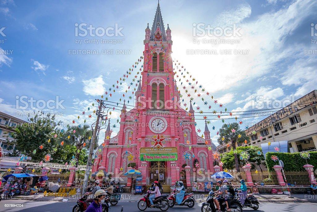 Tan Dinh Church stock photo