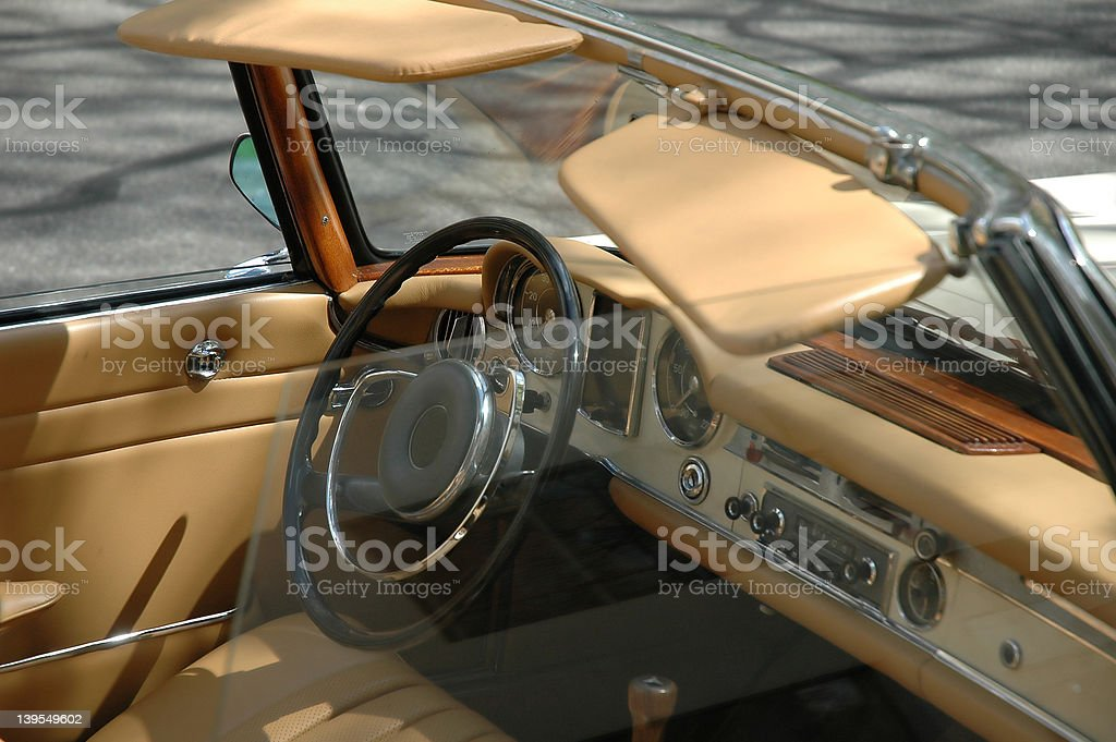 Tan Leather Interior stock photo