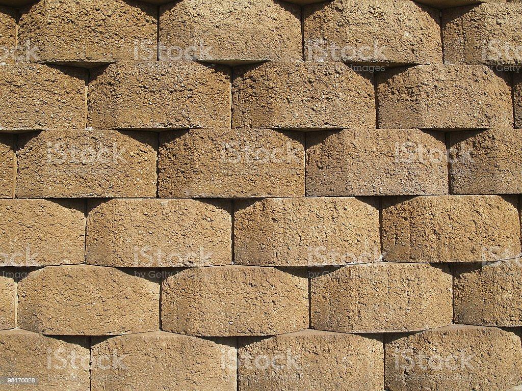 Tan Retaining Wall royalty-free stock photo