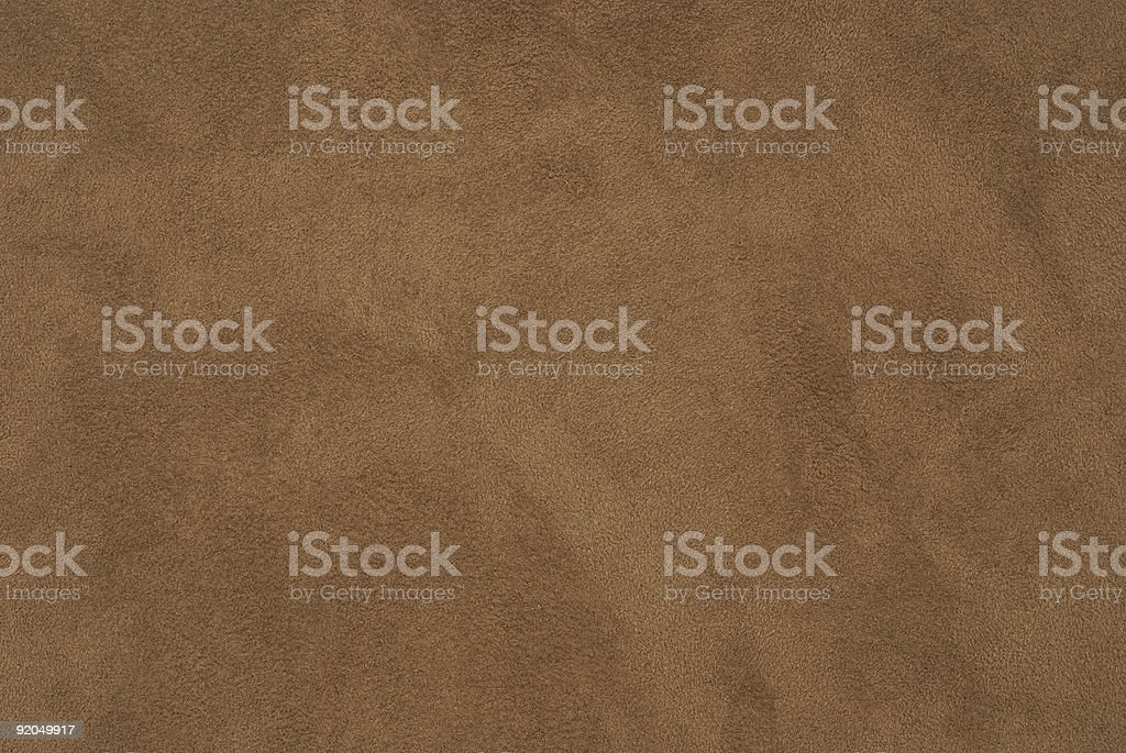 Tan suede with fine nap stock photo