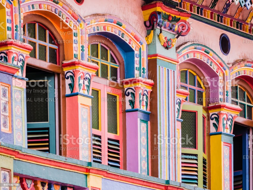 Tan Teng Niah house Little India Singapore stock photo