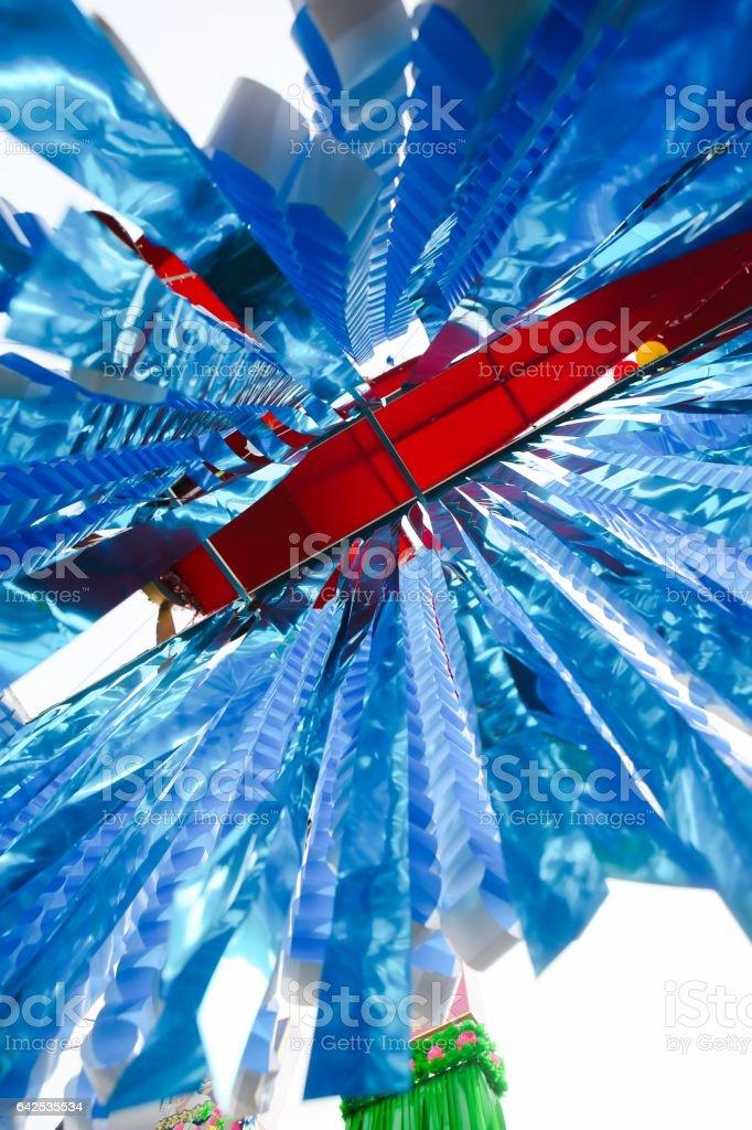 Tanabata Festival (Star Festival) Decorations stock photo