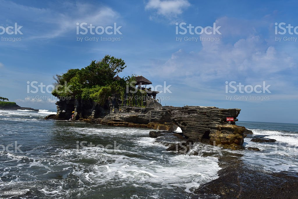 Tanah Lot Bali, Indonesia stock photo