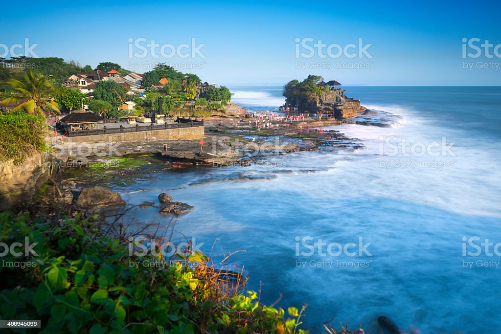 Tanah Lot, from Bali, Indonesia. stock photo