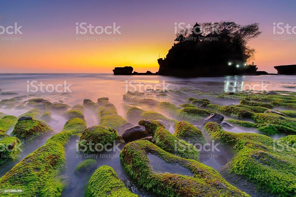 Tanah Lot Hindu Temple - Bali stock photo