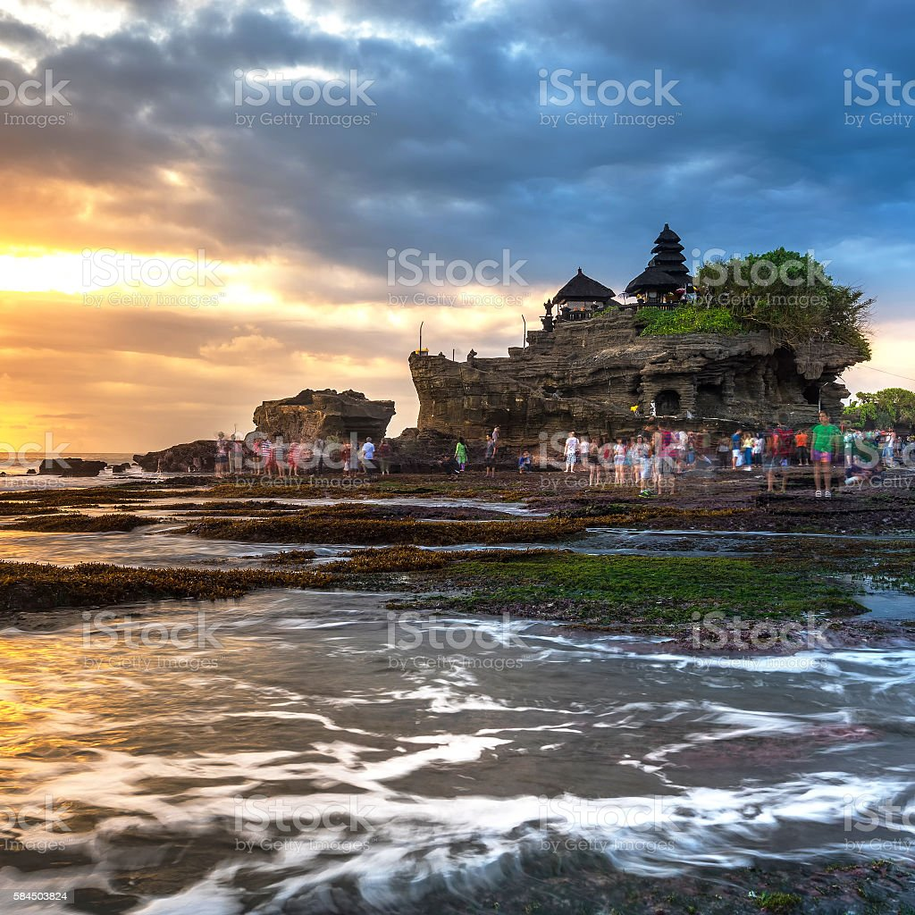 Tanah lot, Hindu temple in Bali, Indonesia stock photo