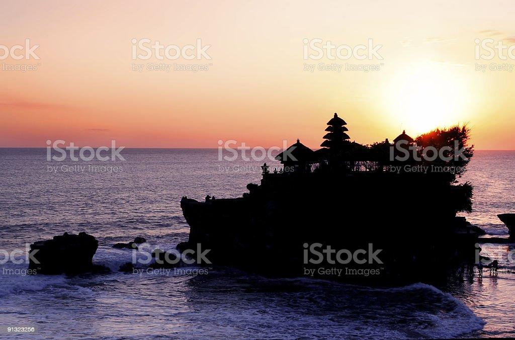 Tanah Lot Sunset royalty-free stock photo