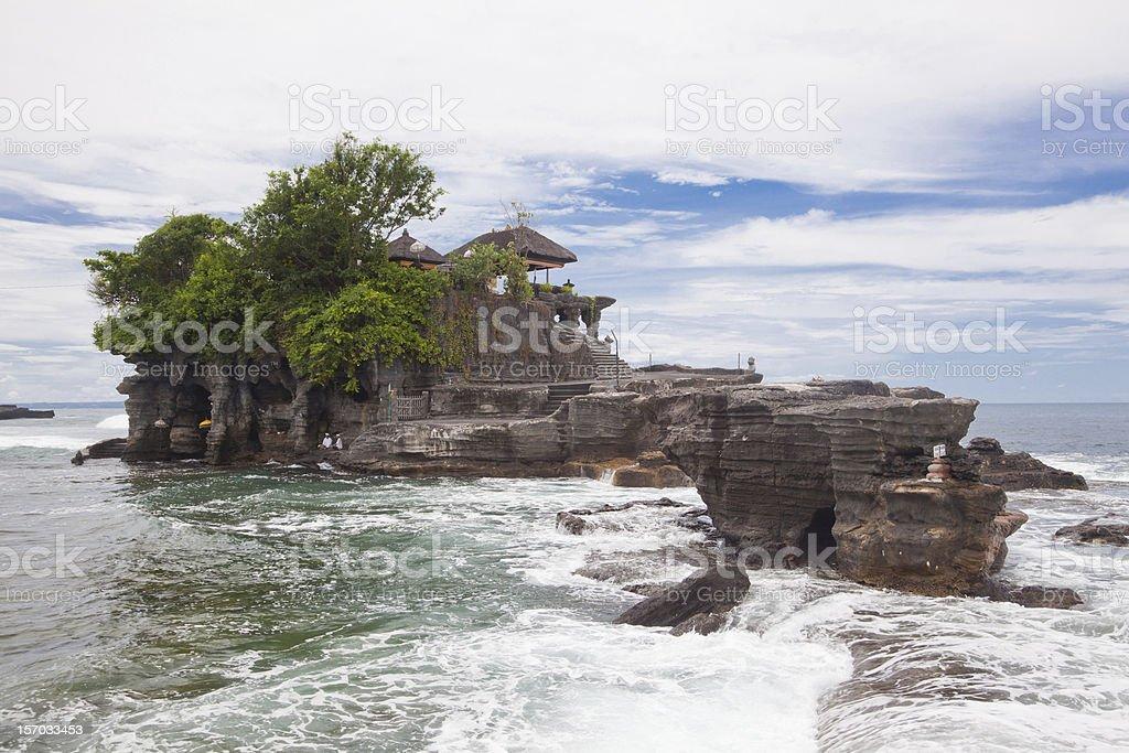 Tanah Lot Temple Bali Indonesia stock photo