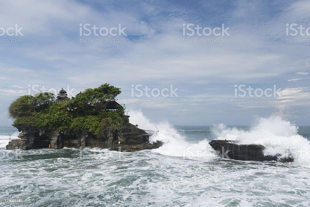 Tanah Lot temple, Bali Indonesia stock photo
