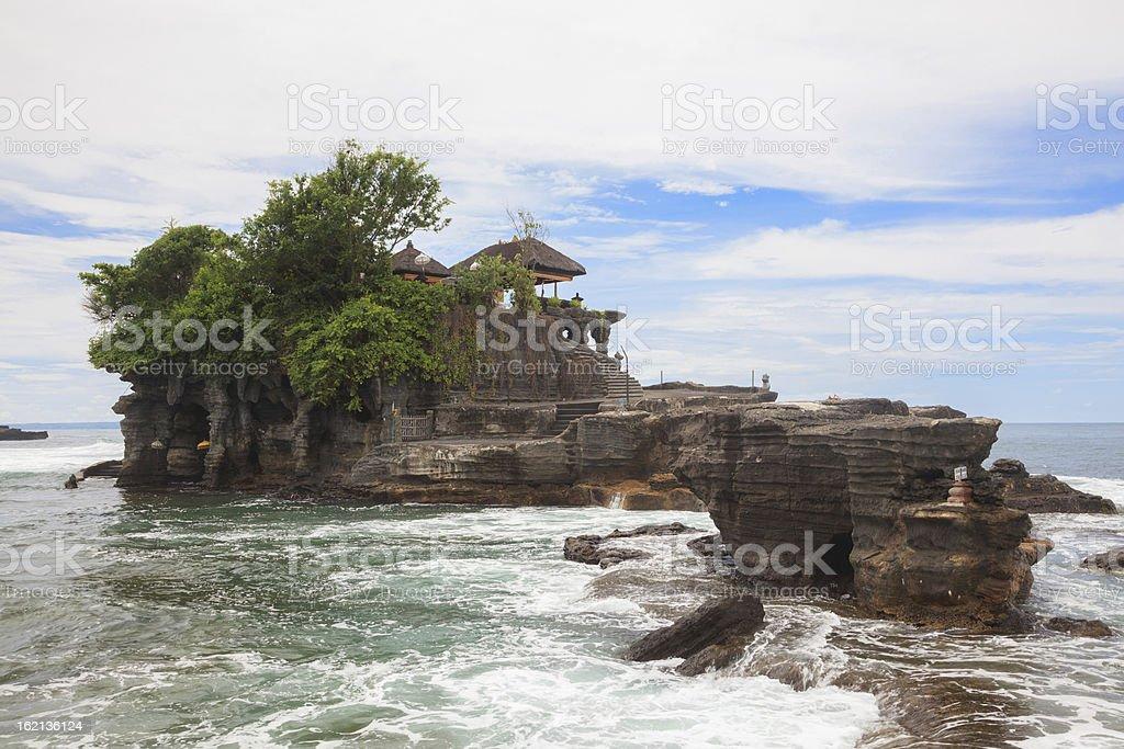 Tanah Lot Temple Bali stock photo