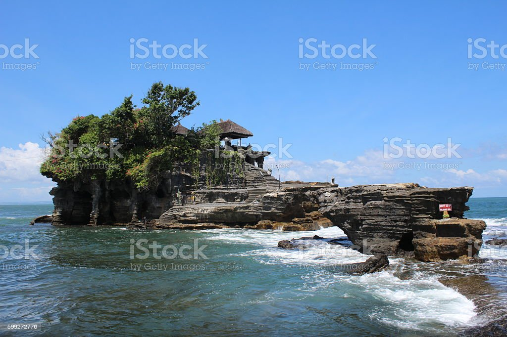 Tanah Lot Temple, Bali stock photo
