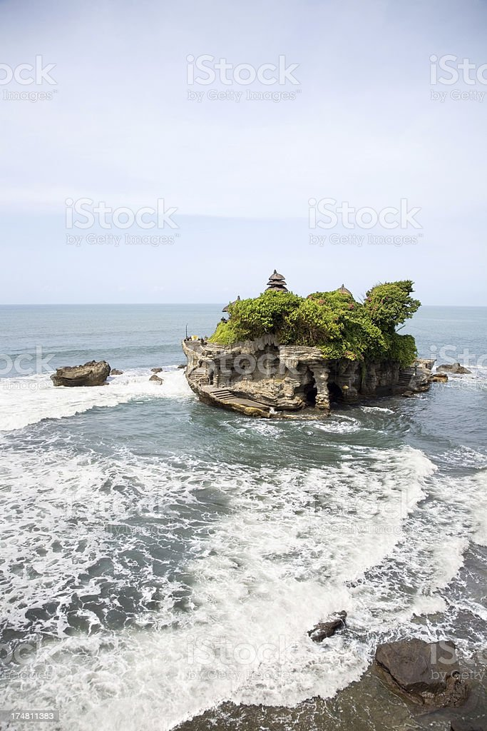 Tanah Lot temple in Bali royalty-free stock photo