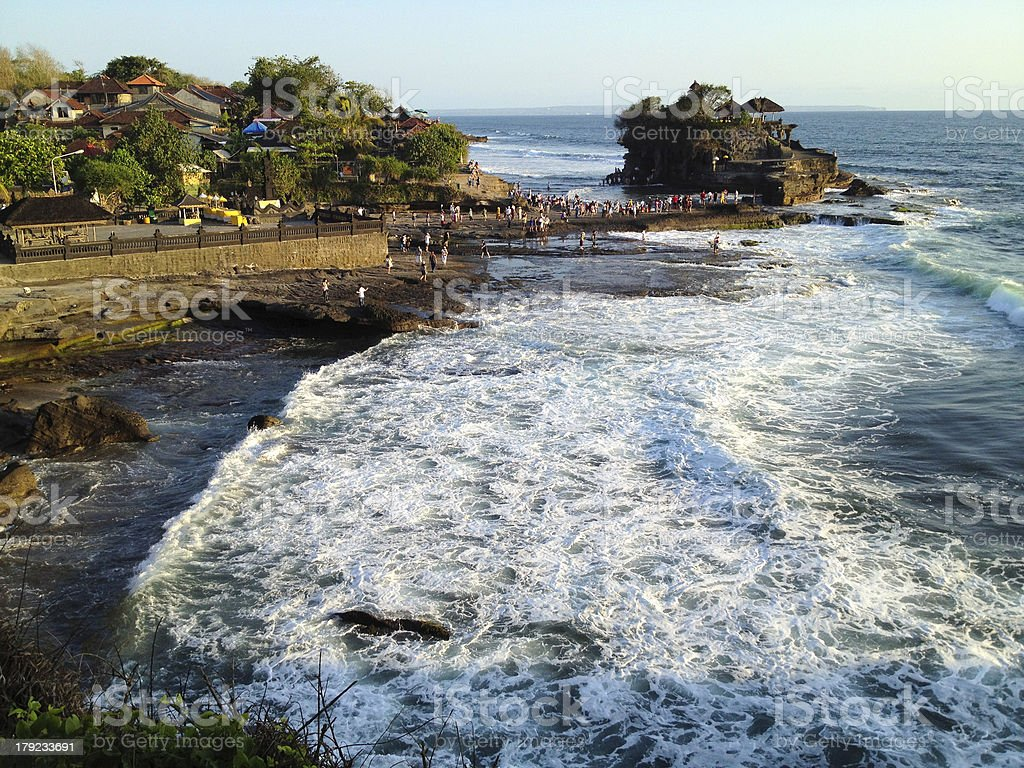 Tanah Lot Temple on Sea in Bali Island royalty-free stock photo