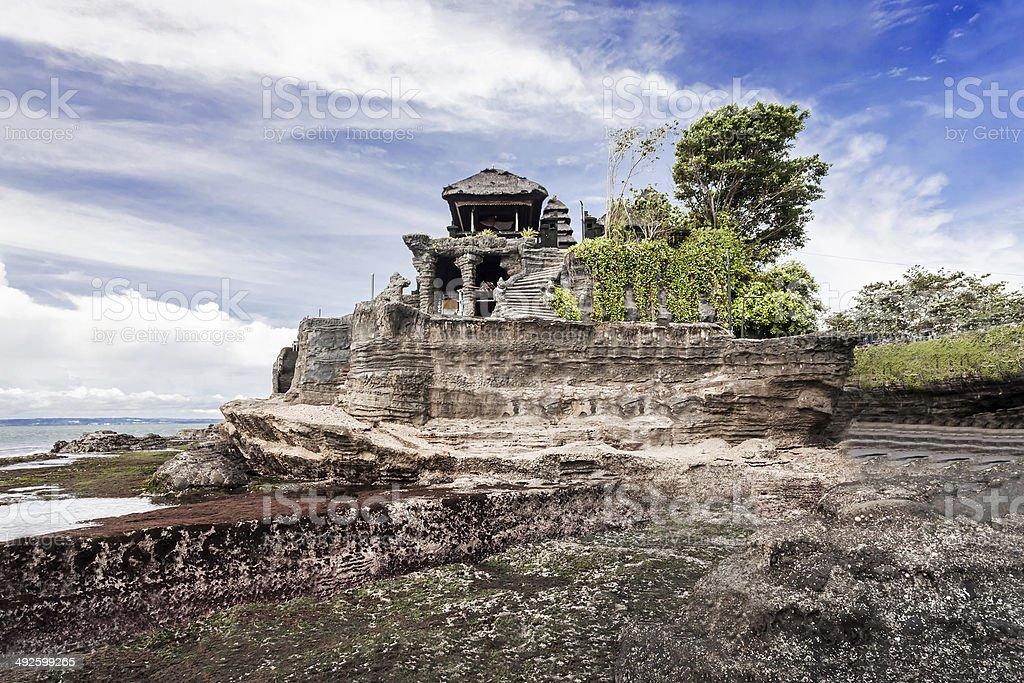 Tanah Lot temple stock photo