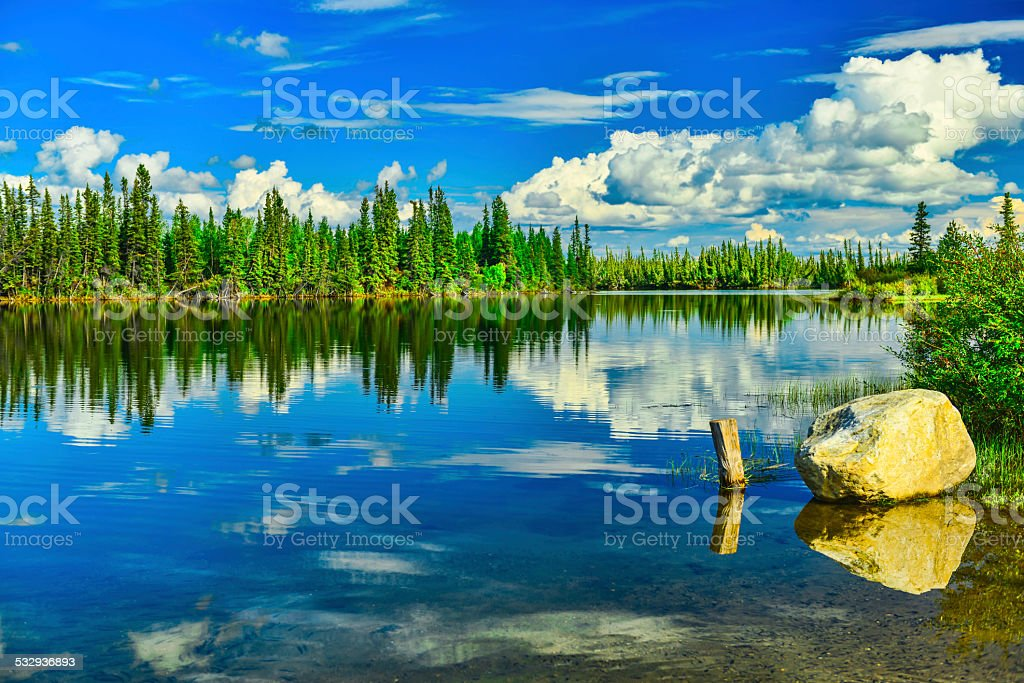 Tanana River stock photo