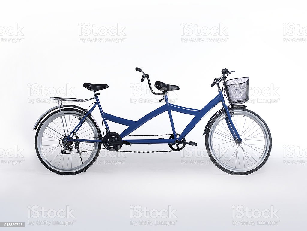 tandem bicycle stock photo