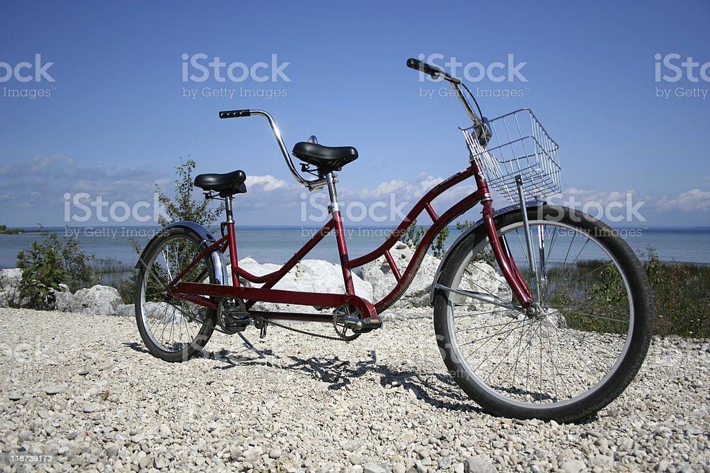 Tandem Bike stock photo