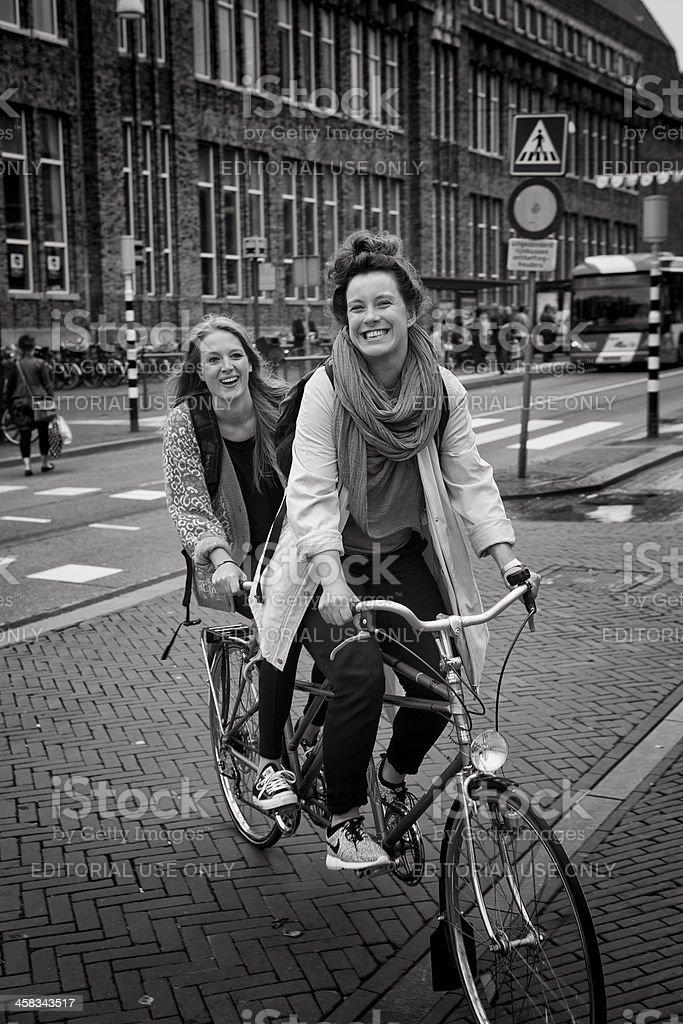 tandem bike royalty-free stock photo