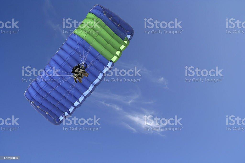 Tandem Parachute Jump royalty-free stock photo