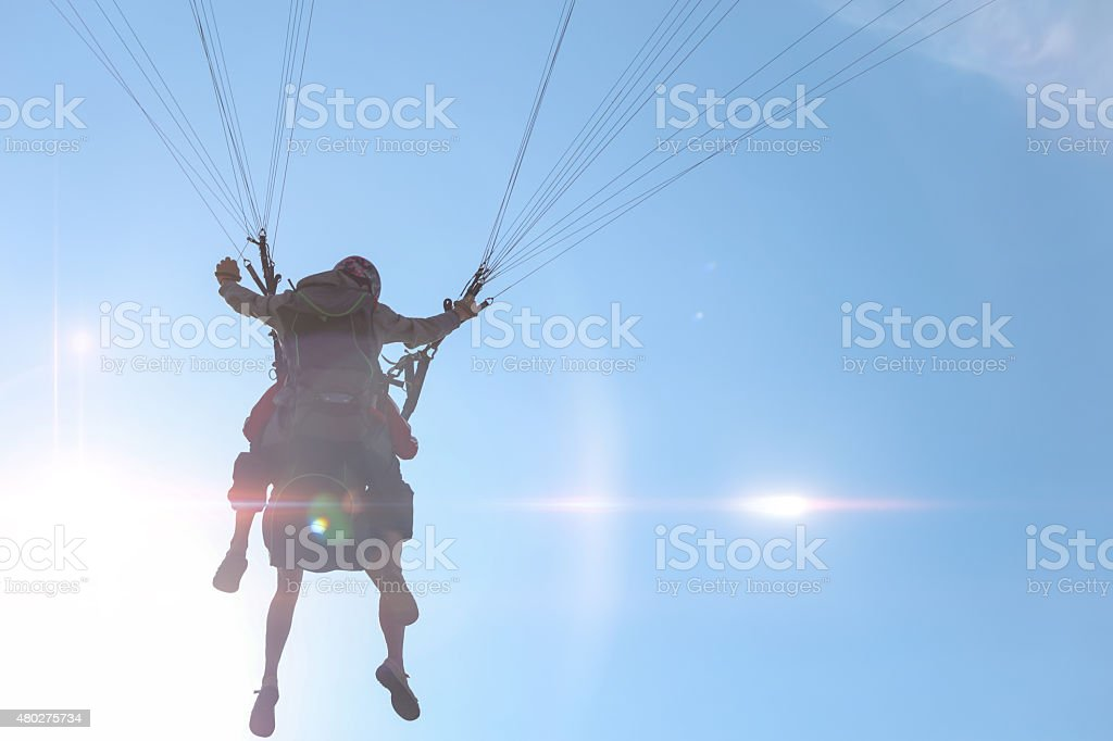 Tandem Paraglide stock photo