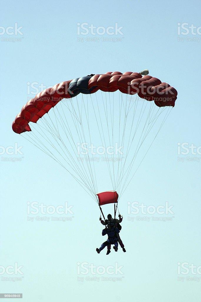 Tandem Sky plongeurs photo libre de droits
