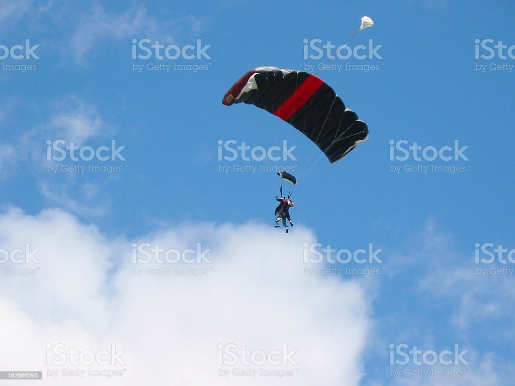 tandem skydive royalty-free stock photo