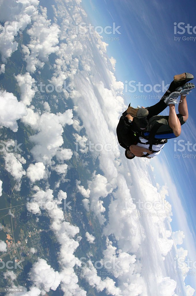 Tandem Skydivers royalty-free stock photo