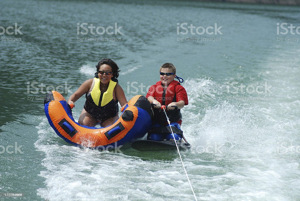 Tandem Water Sports royalty-free stock photo