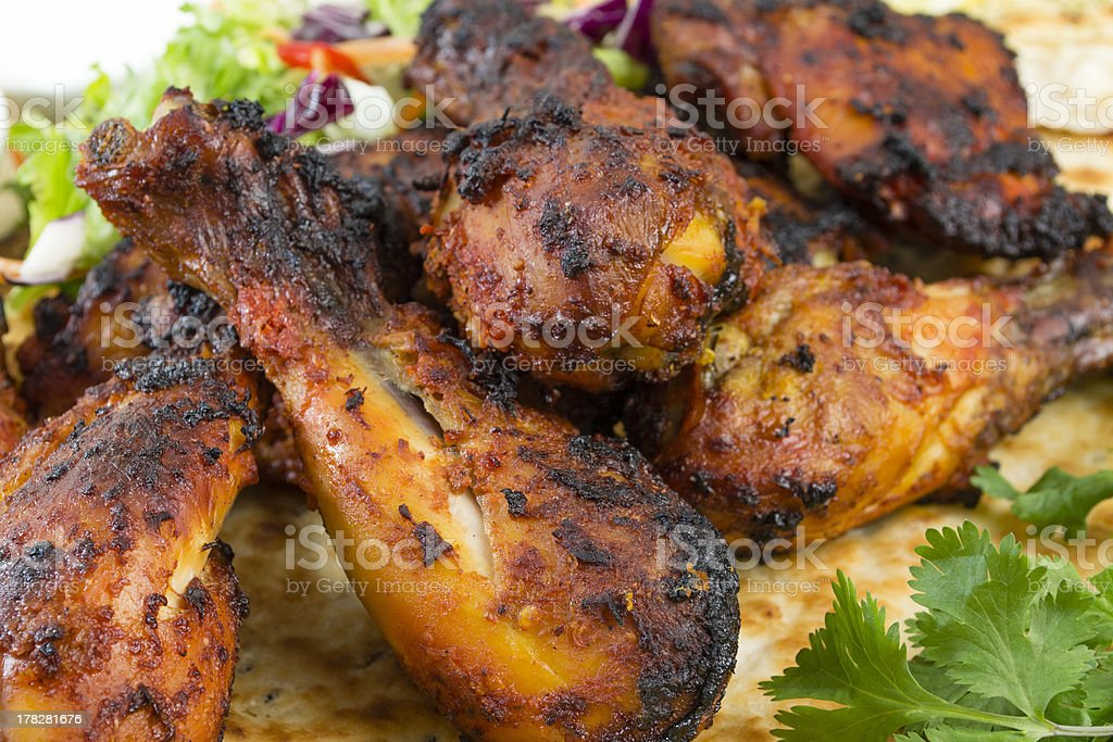 Tandoori Chicken on Naan stock photo