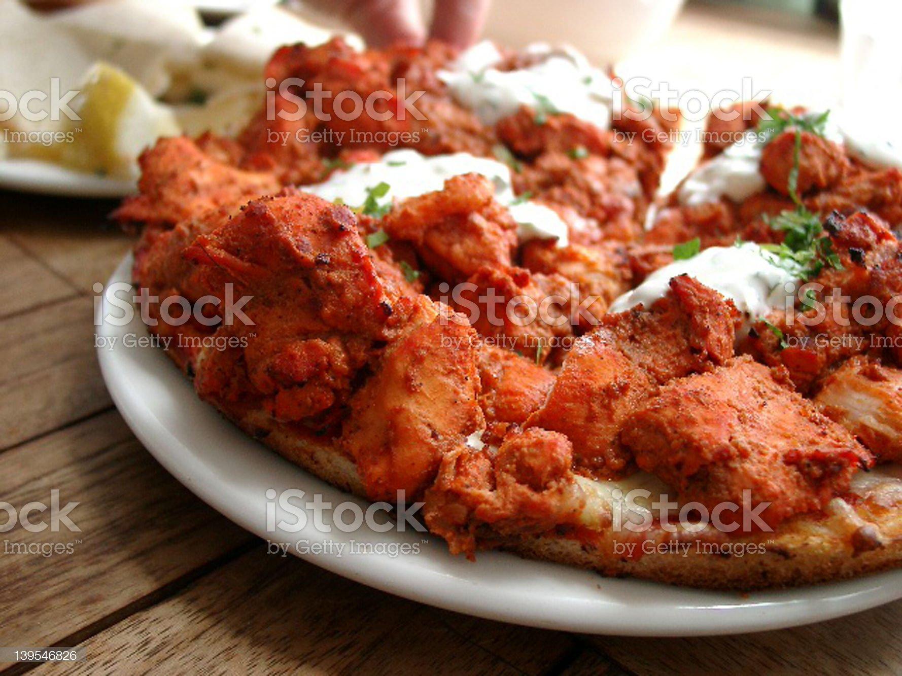 Tandoori Pizza royalty-free stock photo