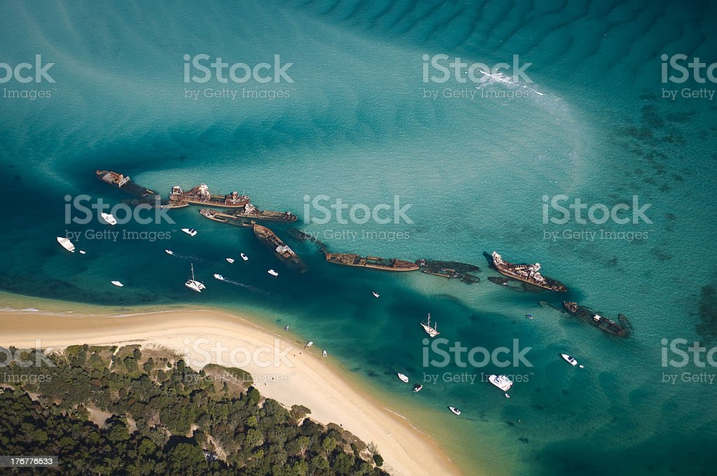 Tangalooma Shipwrecks royalty-free stock photo