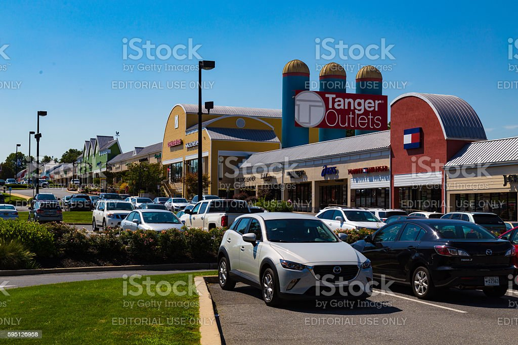 Tanger Outlets in Lancaster County stock photo