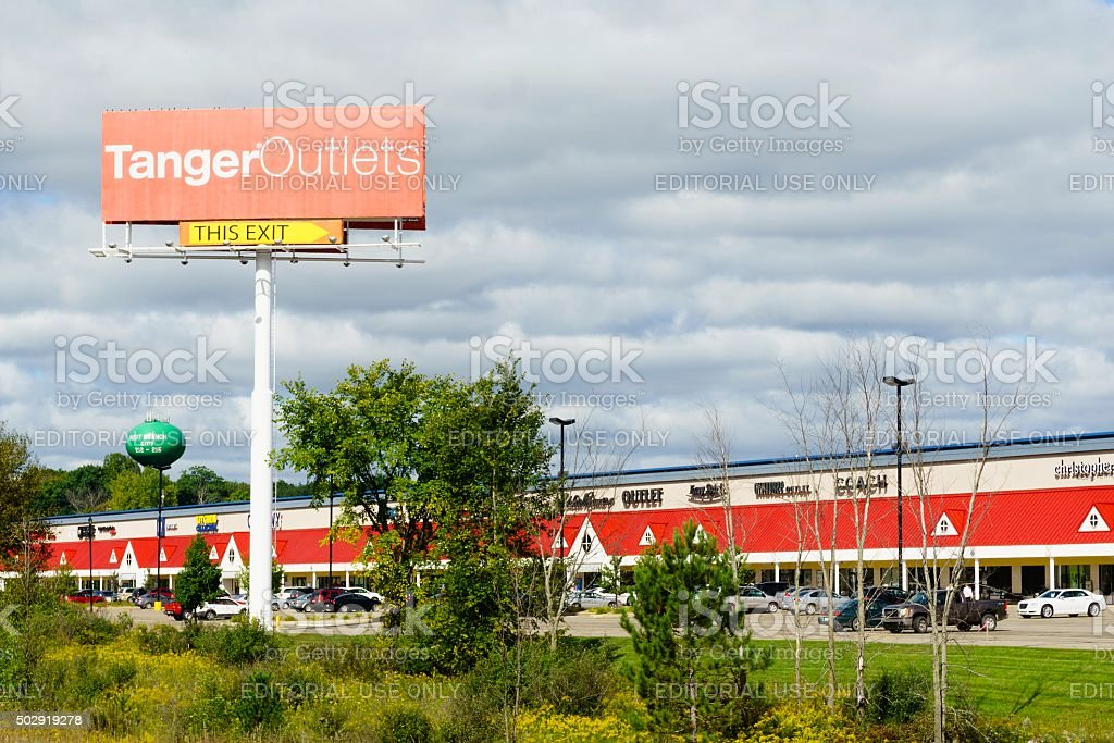 Tanger Outlets stock photo