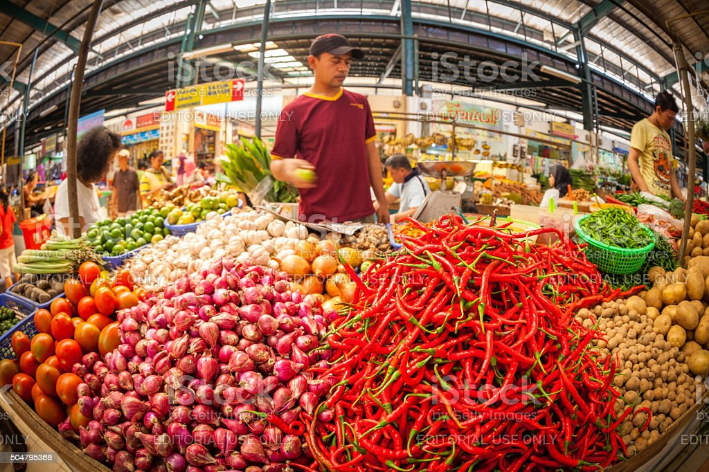 Tangerang market in Indonesia stock photo