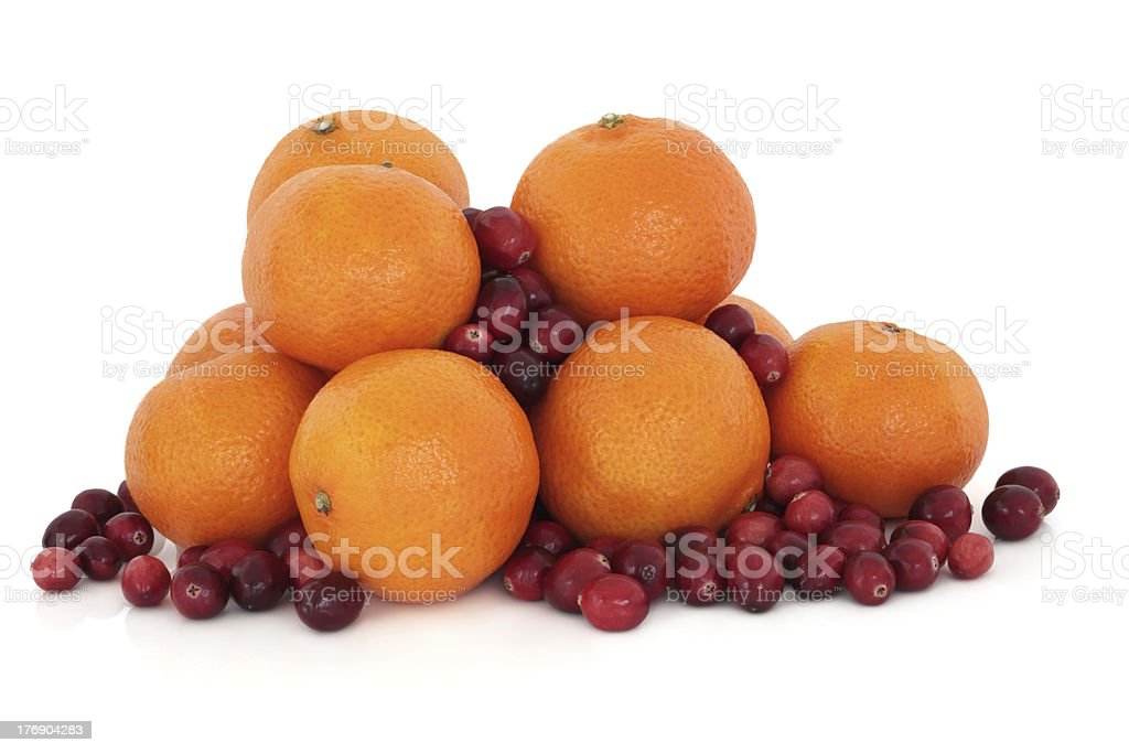 Tangerine and Cranberry Fruit royalty-free stock photo