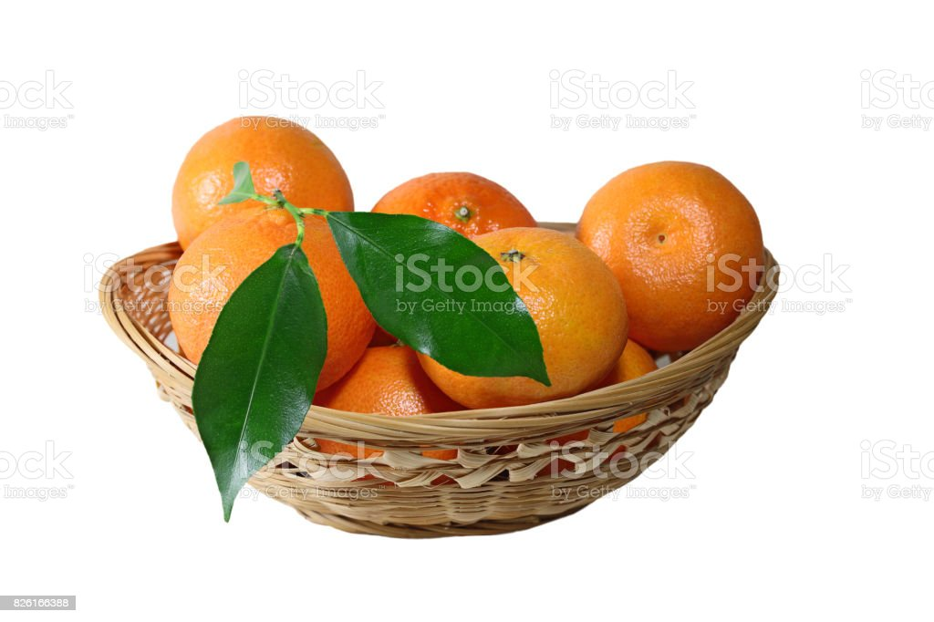 Tangerine Basket stock photo