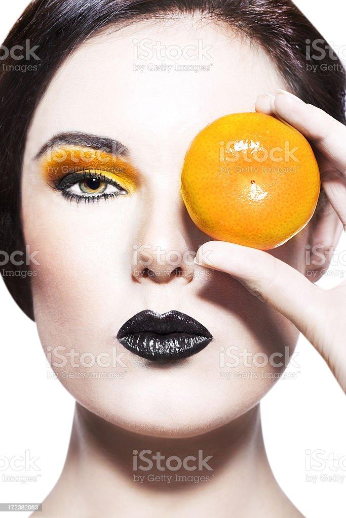 Tangerine Beauty royalty-free stock photo