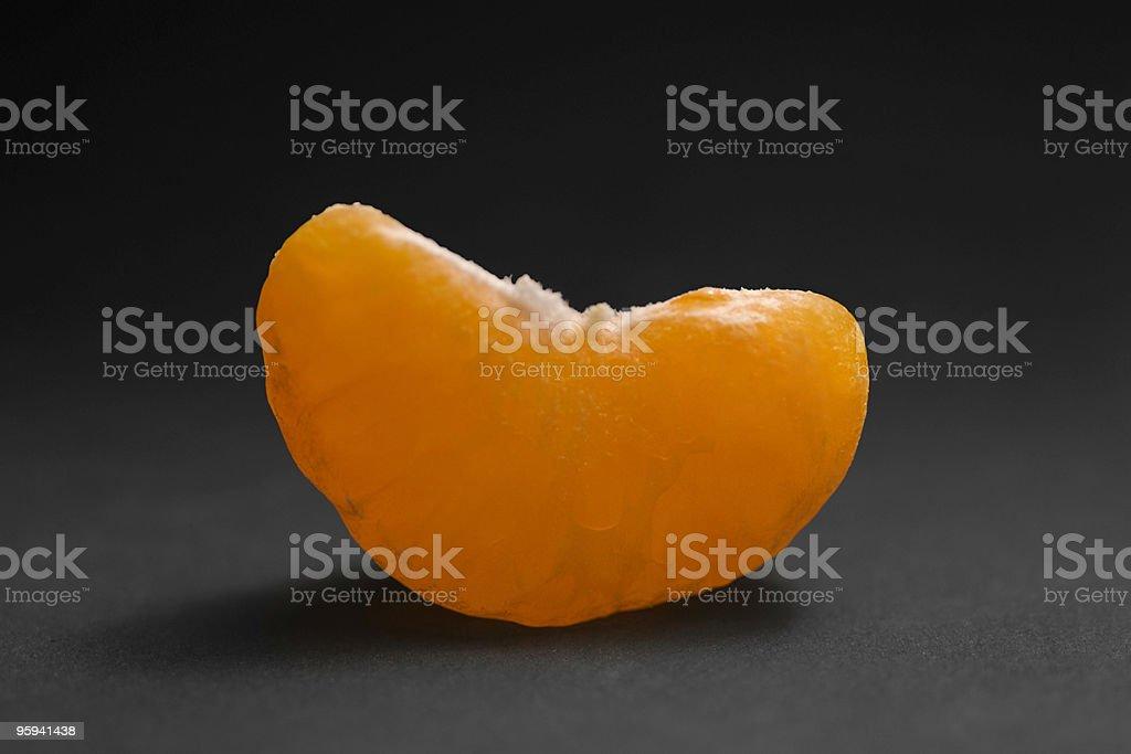 tangerine cut royalty-free stock photo