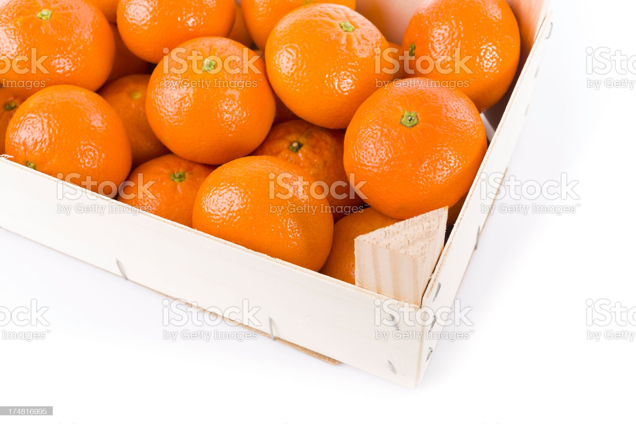 tangerine fruits in a box royalty-free stock photo
